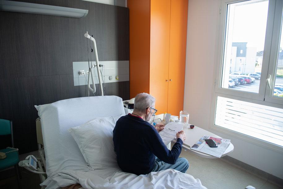 Patient en chambre